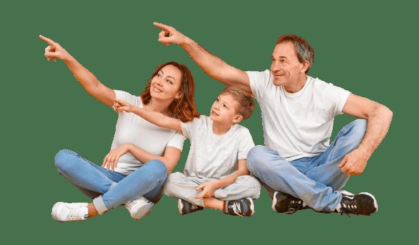Famiglia contenta di aver installato una grata da Cancelli & Grate