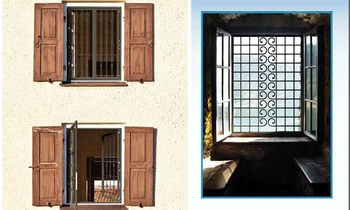 grate di sicurezza per finestre